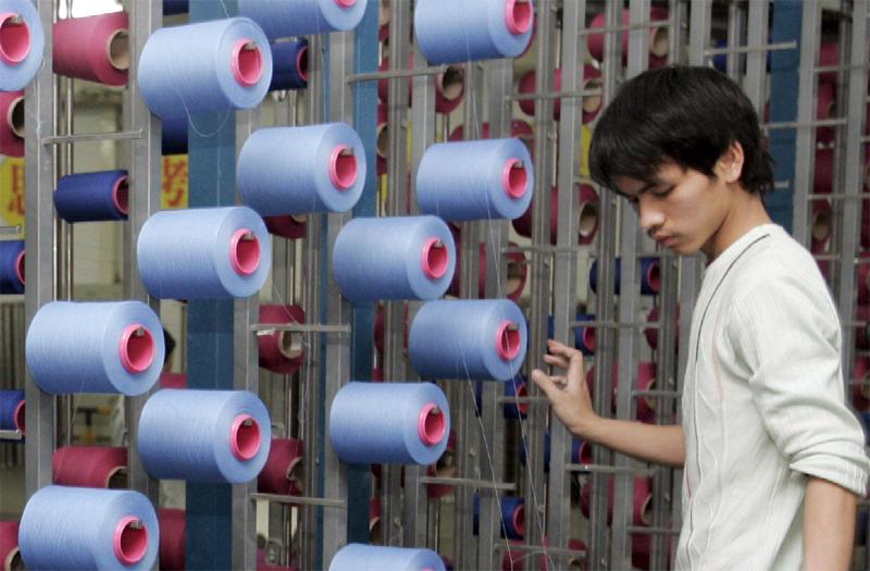 Giovane cinese al lavoro