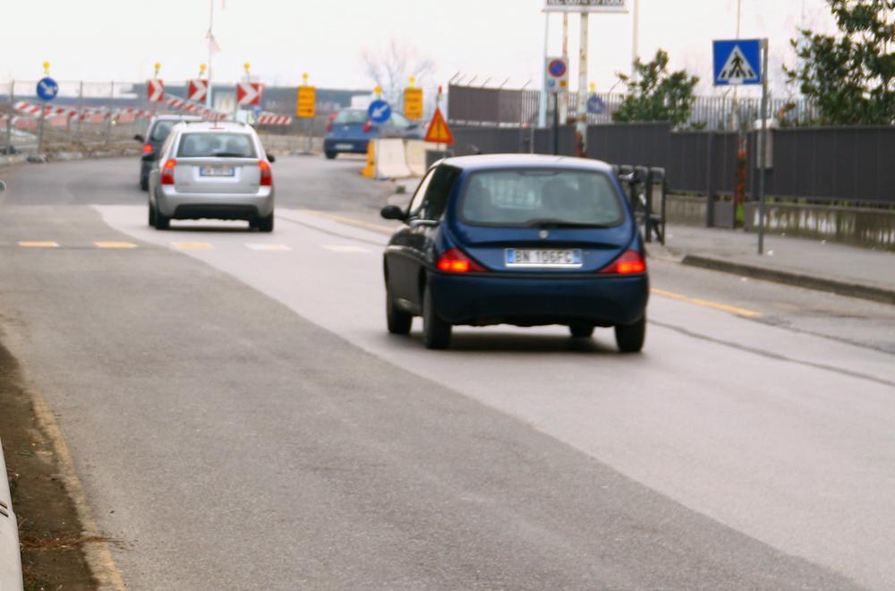 Traffico sulla declassata durante la costruzione del sottopasso della questura