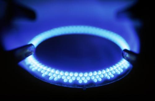 Fornello a gas acceso