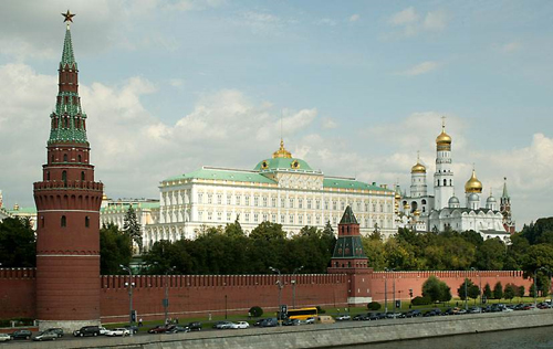 Una veduta del Cremlino