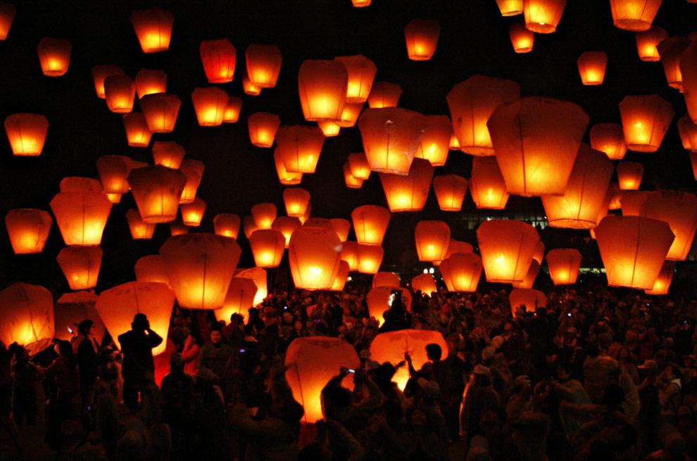 Decorazioni Con Lanterne Cinesi : Promozione pz lanterne cinesi volanti pz lanterne bianchi