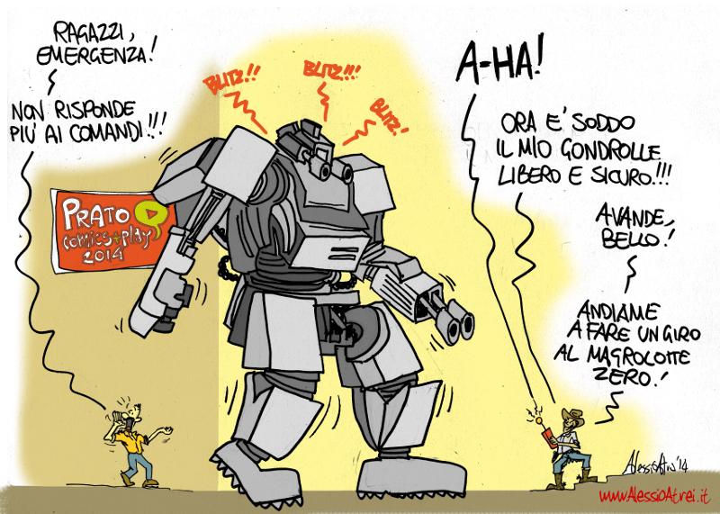 Prato comics+play Aldo milone robot revolution chinatown macrolotto zero