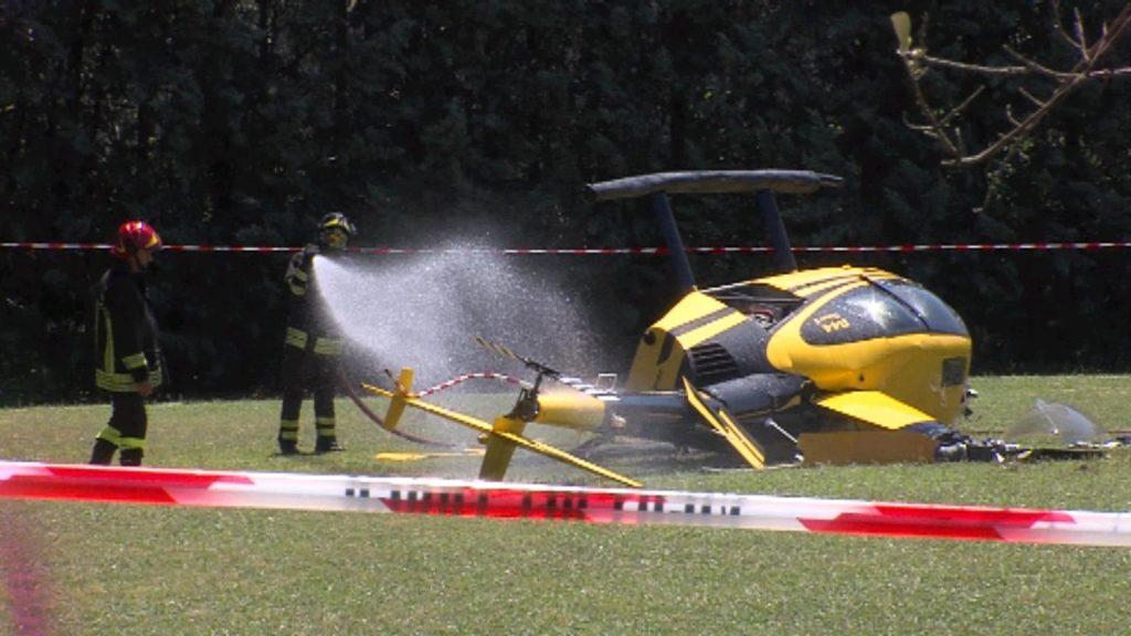 Elicottero Edile : Incidente tennis club indagato il pilota dell elicottero