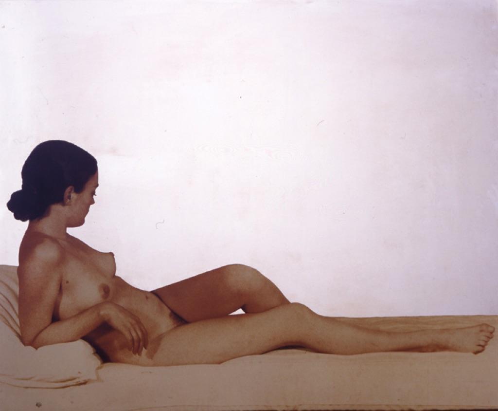 Michelangelo-Pistoletto-Nudo-color-seppia.-Venere-Maria-1974.-Collezione-Palli